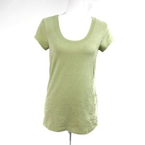 T551 Kenneth Cole Reaction Green U Neck Tee Med